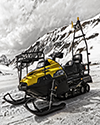 Snowmobile on snow image